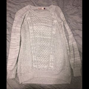 Rarely Worn!! Light Gray Knit Sweater